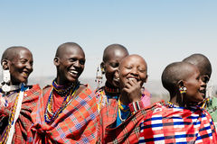 Women of the Masai Tribe in Tanzania Royalty Free Stock Photography