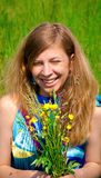 Women in meadow Royalty Free Stock Image