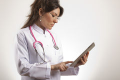 Women Medical doctor checking Royalty Free Stock Images