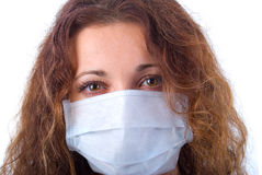Women In Medicine Mask. Stock Image