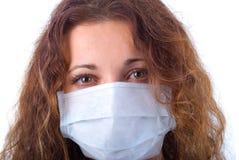 Women In Medicine Mask. Stock Image