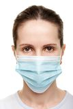 Women in medicine mask Stock Image
