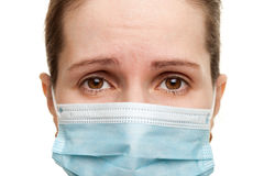 Women in medicine mask Stock Photography