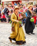 Women in medieval costumes Royalty Free Stock Photography