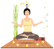 Women meditation Stock Photos