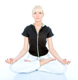 Women in meditation Stock Photos