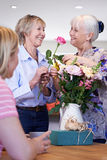 Women Meeting At Flower Arranging Class Royalty Free Stock Photo