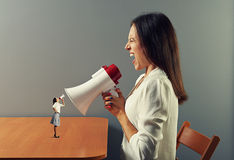 Women with megaphone Stock Photography