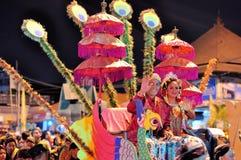 Women and men dressed as royalty, Yogyakarta city Royalty Free Stock Photo