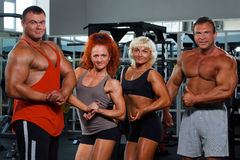 Women and men in a health club royalty free stock images