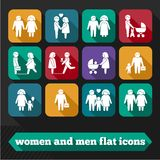 Women and Men Icons Royalty Free Stock Photos