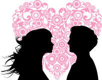 Women and men loving vector illustration