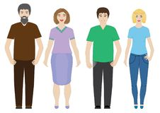 Women and men, people, . Women and men, people royalty free illustration