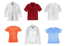 Women and men shirts illustration Royalty Free Stock Images