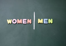 Women and men sign Royalty Free Stock Image