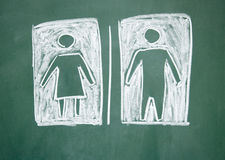 Women and men sign Stock Image