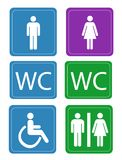 Women and Men Toilets Stock Images