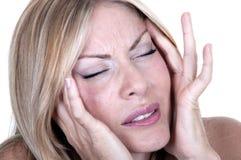 Women with migraine Royalty Free Stock Photos