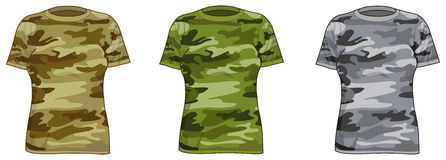 Women military shirts Stock Photography