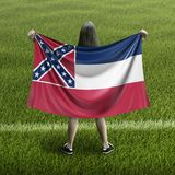 Women and Mississippi flag stock images