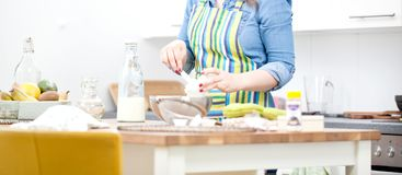 women are mixing the ingredients of a cake in a stainless bowl i royalty free stock photo