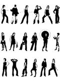Women Models. Long work with vectors silhouettes Royalty Free Stock Image