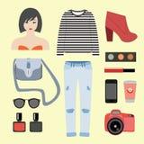 Women modern clothing Stock Image