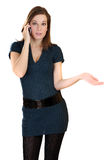 Women with mopbile phone Royalty Free Stock Photo