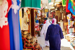 Women on Moroccan market Royalty Free Stock Photos
