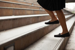Women are moving up the ladder. Royalty Free Stock Image