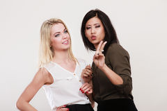 Women multiracial friends having fun Stock Image