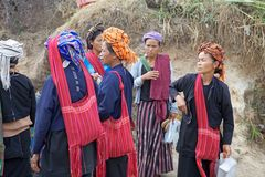 Women from Myanmar Stock Photo