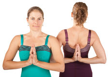 Women In Namaskar Posture Stock Image
