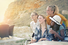 Women in the nature royalty free stock image