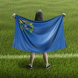 Women and Nevada flag royalty free stock images