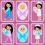 Women and newborns Stock Images