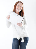 Women with notebook Royalty Free Stock Images