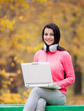 Women with notebook Stock Photography
