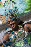 A women at Notting Hill carnival Stock Photos
