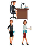 Women office business coworkers employee. Vector illustration eps 10 Stock Photos
