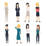 Women in office clothes. Beautiful woman in business clothes. Businesswomen picture,. Vector illustration Royalty Free Stock Photos