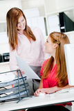 Women at Office Desk Royalty Free Stock Photography