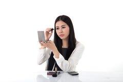 Women office worker makeup Stock Photos