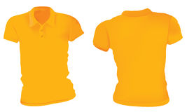 Women Orange Polo Shirts Template Royalty Free Stock Photo