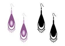 Women& x27; orecchini di s Illustrazione di vettore isolata royalty illustrazione gratis