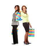 Women out shopping Royalty Free Stock Images
