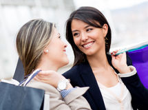 Women out shopping Royalty Free Stock Photography
