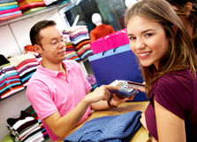Women out shopping Royalty Free Stock Photos