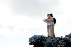 Women outdoors hiking royalty free stock image