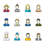 Women outlined icon collection. Stock Image